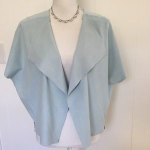 NWT Chico's faux suede Jacket size medium.